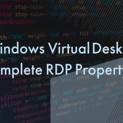 WVD RDP Properties explained!